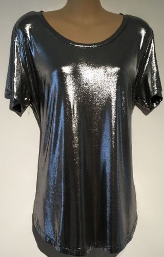 H&M MAMA SHINY POPPER SIDE OCCASION TOP M UK 12